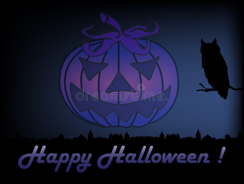 Download Halloween night stock vector. Illustration of bird, celebration - 33812446