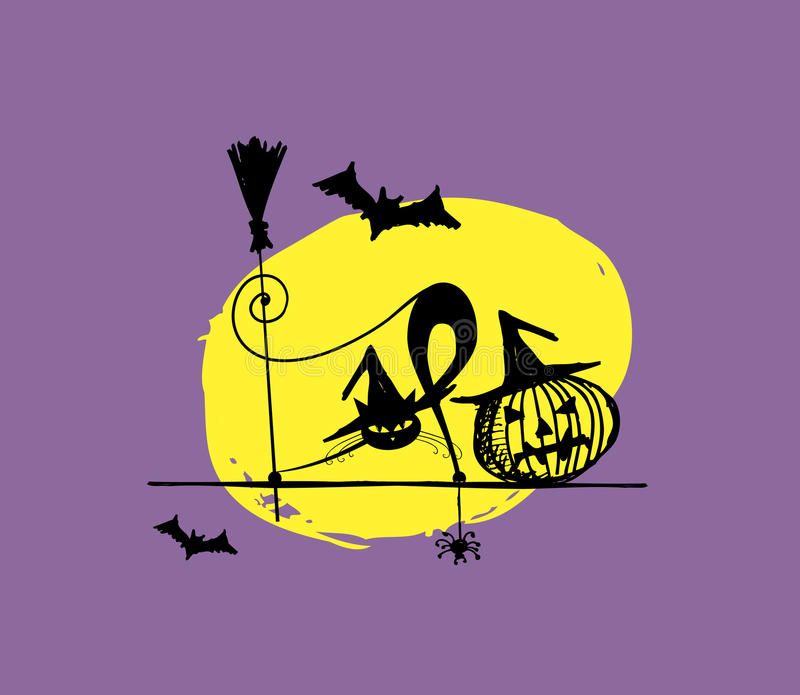 Download Halloween Night Illustration For Your Design Stock Illustration - Illustration: 34756732