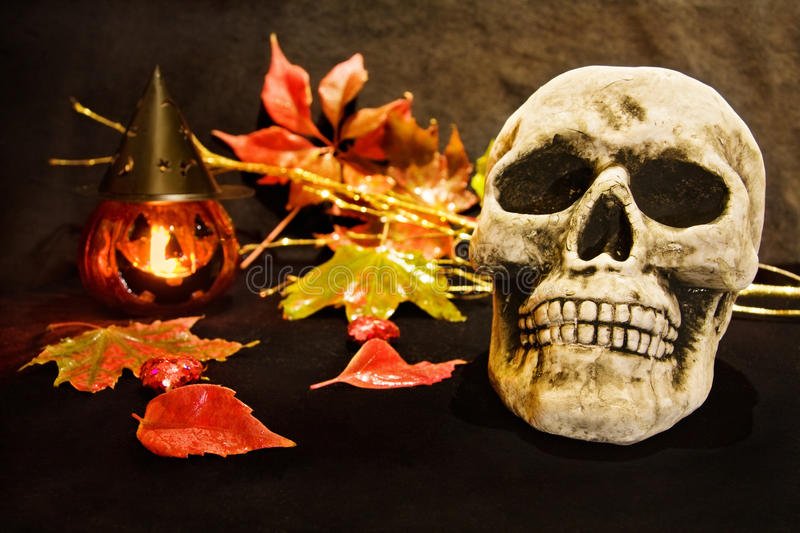 Download Halloween Night With Scary Skull Stock Image - Image of black, creepy: 11113401