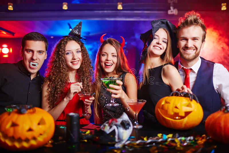 Halloween at nightclub royalty free stock photography