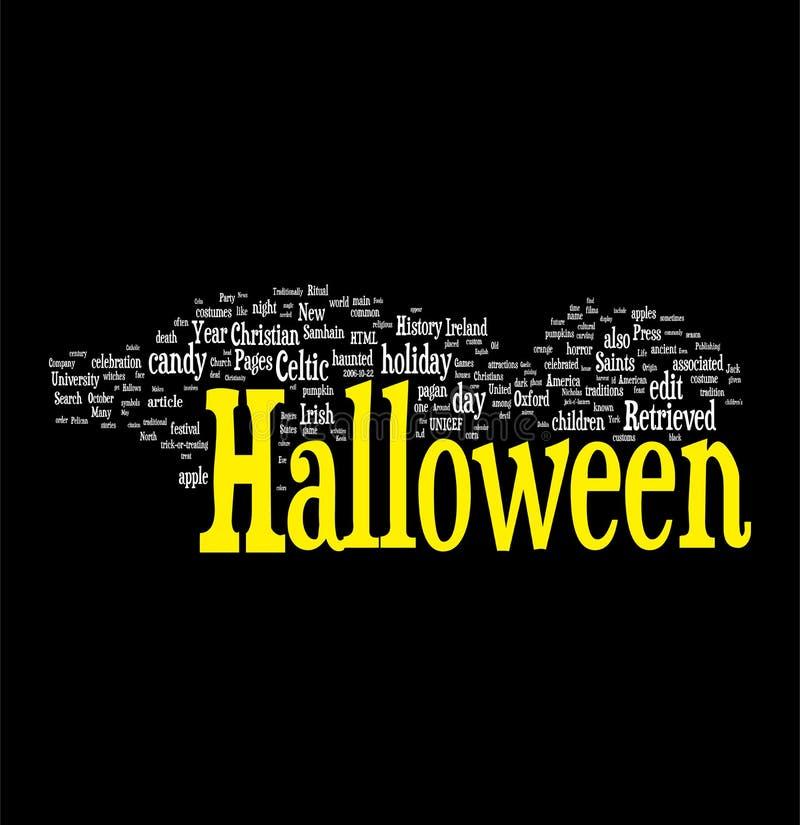 halloween obłoczny słowo ilustracji