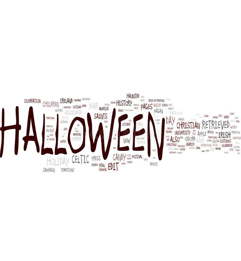halloween obłoczny słowo ilustracja wektor