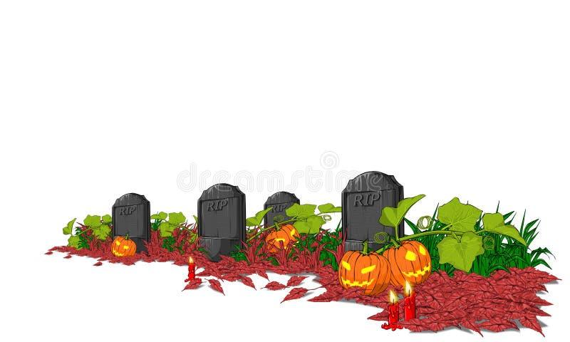 Halloween od tła blasku księżyca uwagi ilustracja wektor