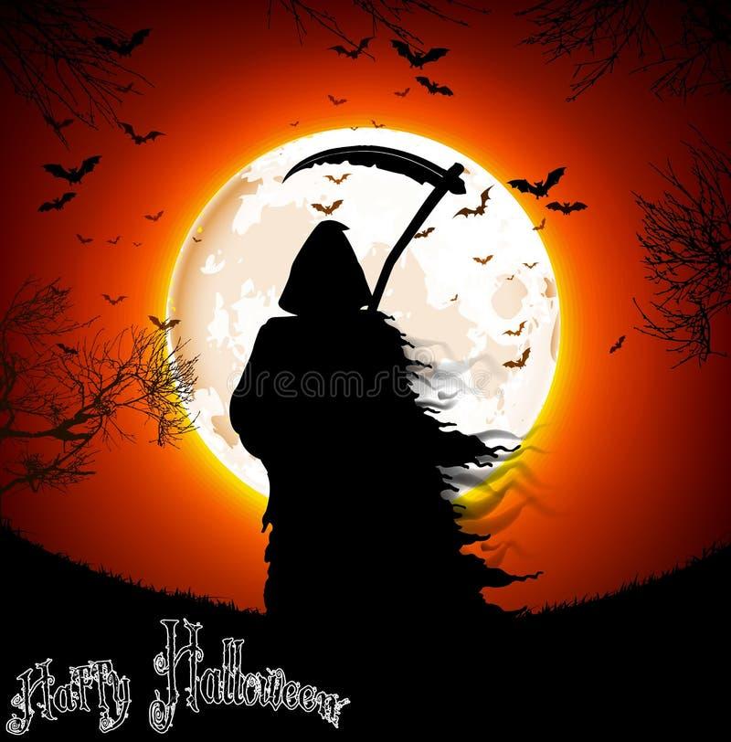 Halloween od tła blasku księżyca uwagi royalty ilustracja
