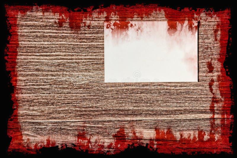 Halloween od tła blasku księżyca uwagi Krwisty list samobójcy na grunge drewnianej ścianie royalty ilustracja