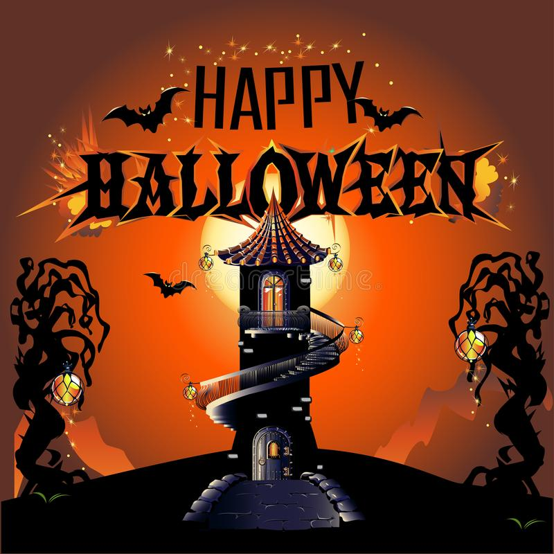Halloween odizolowane tło charakteru ponad plakat ilustracja wektor