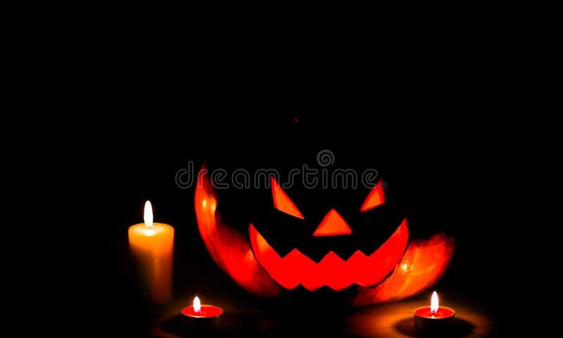 Halloween - old jack-o-lantern stock photos