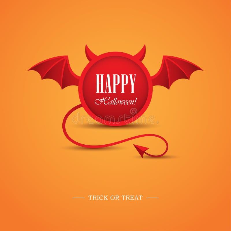 Halloween-ontwerpmalplaatje met duivel stock illustratie