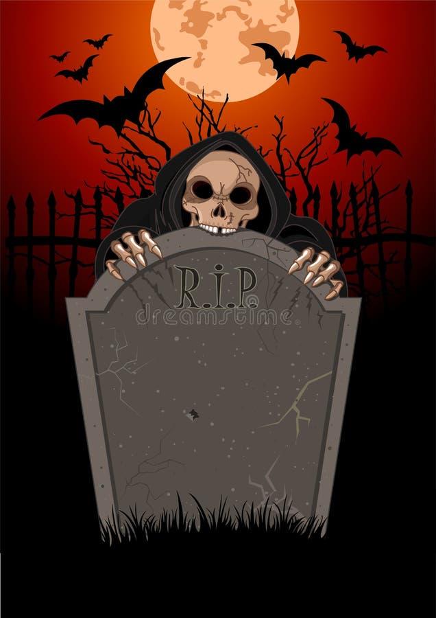 Halloween Onverbiddelijke Reaperanger royalty-vrije illustratie