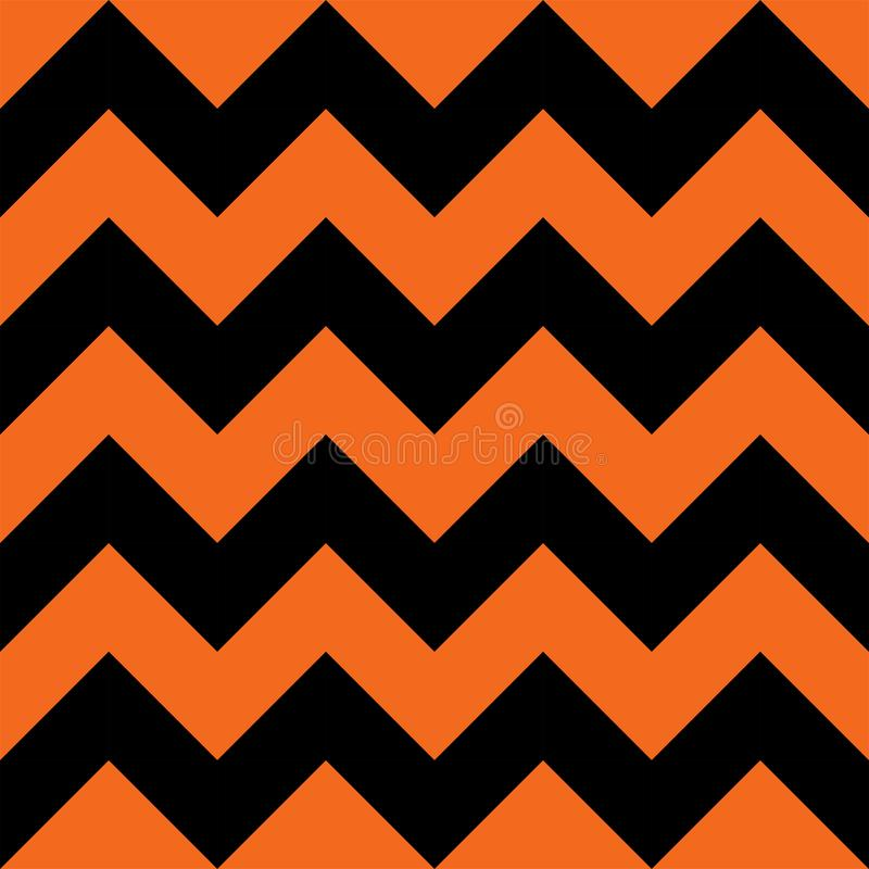 Halloween Orange and Black Chevron Seamless Pattern Background. Kids decoration, digital scrap booking vector illustration