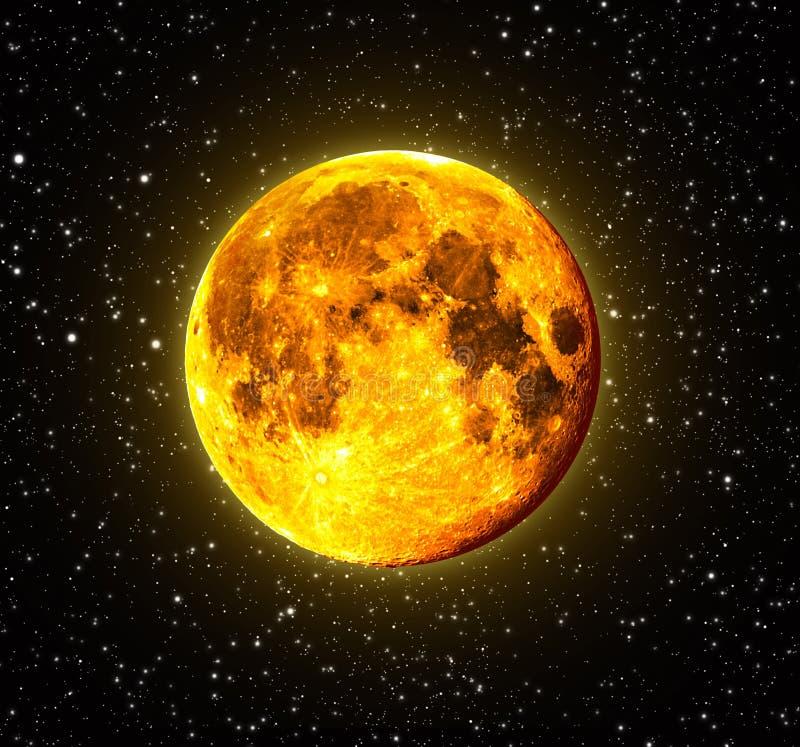 Halloween Orange Full Moon royalty free stock image