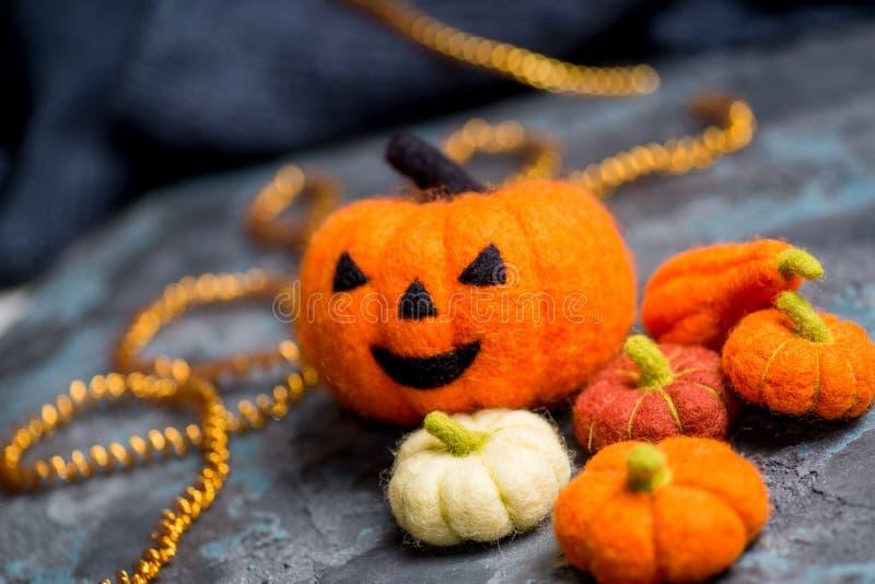 Halloween orange pumpkin fotografering för bildbyråer