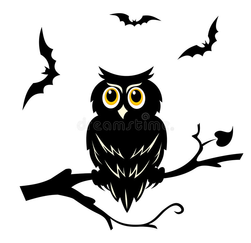 halloween owl vektor illustrationer
