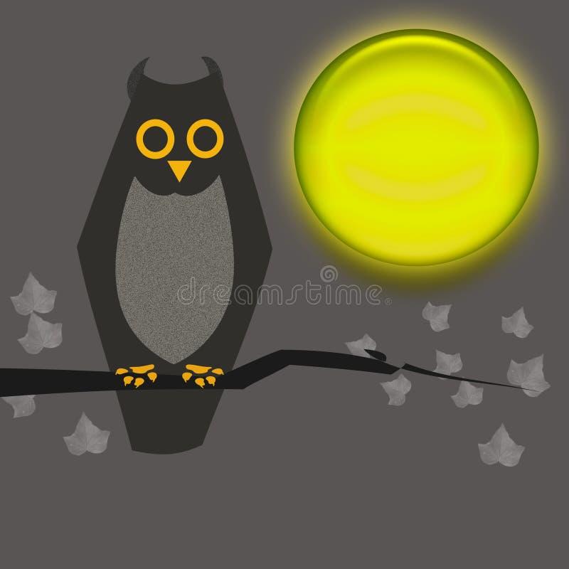 Halloween owl royaltyfri foto