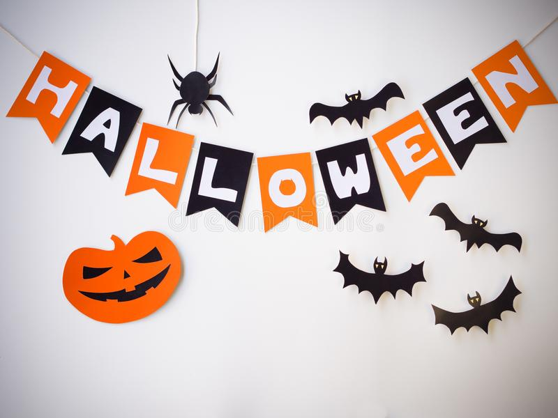 Halloween-Papier herausgeschnitten lizenzfreies stockfoto