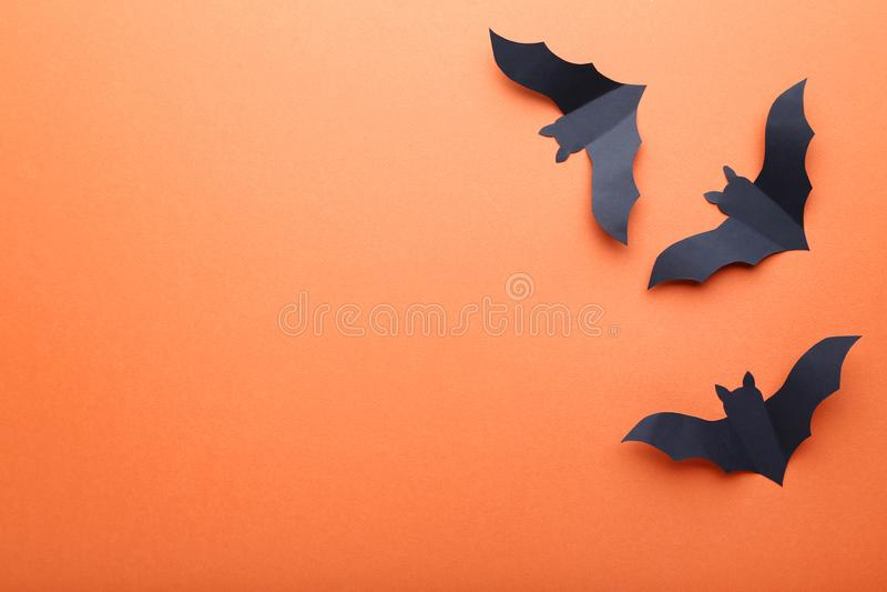 Halloween-Papierschläger lizenzfreie stockfotos