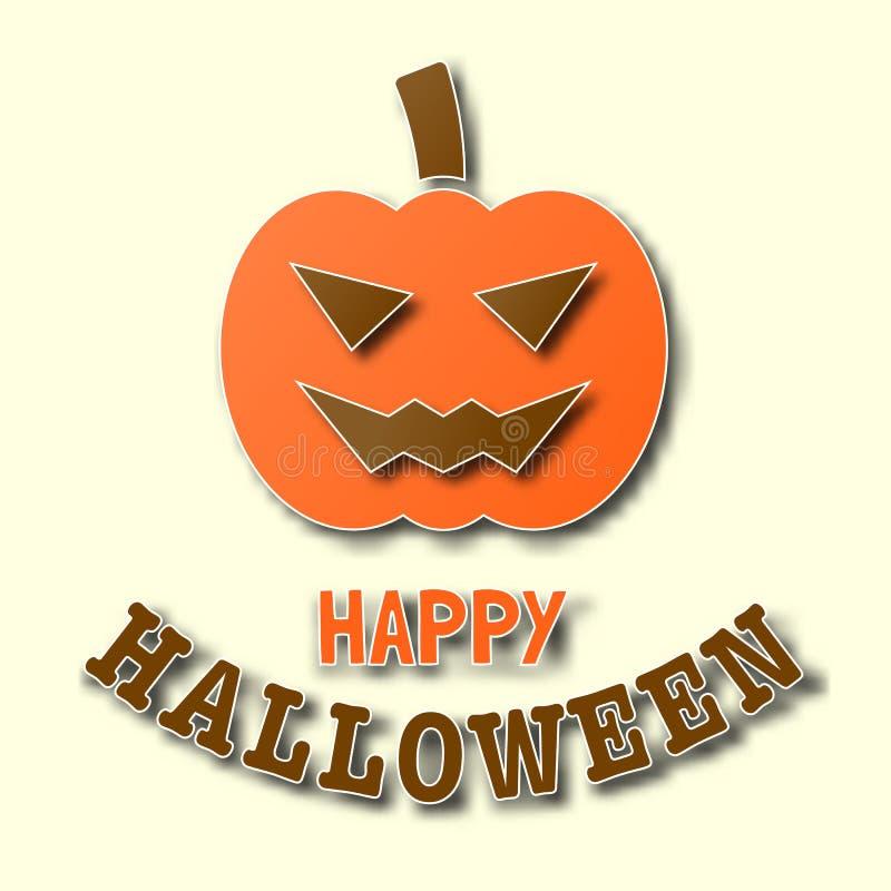 Halloween papieru sztuki sztandar ilustracja wektor