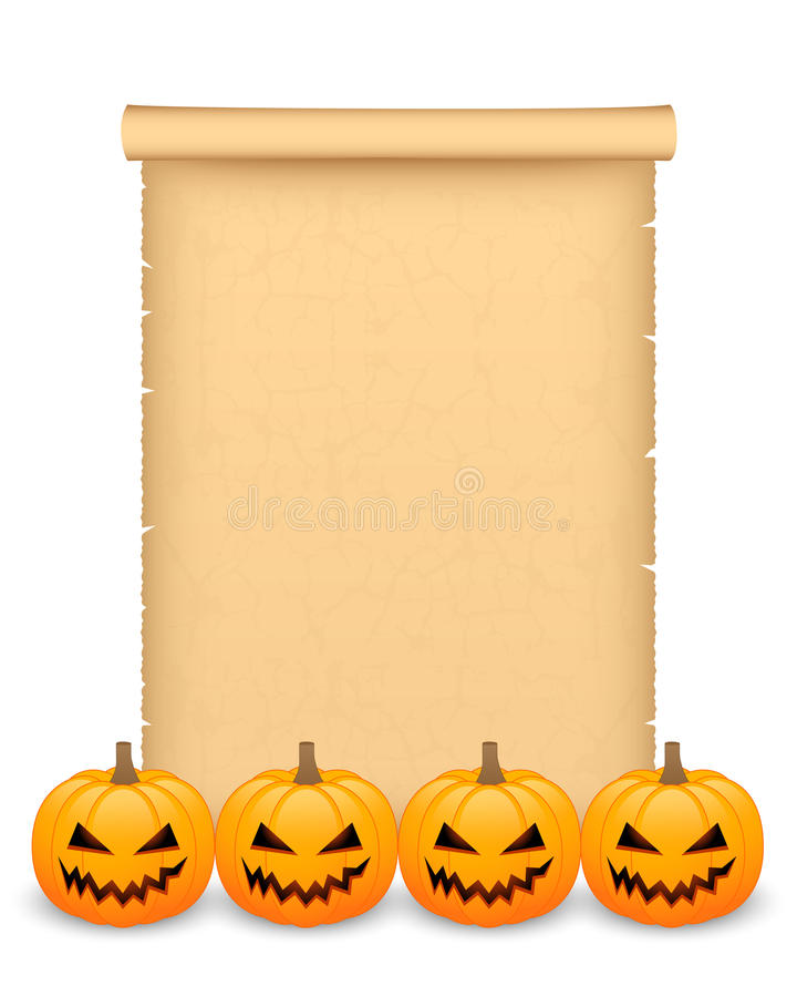 Download Halloween parchment stock vector. Image of lantern, grungy - 34000182