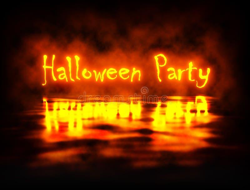 Halloween-Partei-orange Licht-Fahne stock abbildung