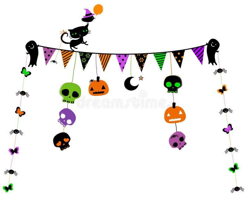 Halloween-Parteidesign stock abbildung