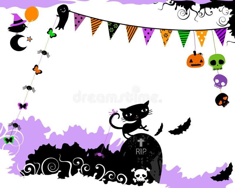 Halloween-Parteidesign vektor abbildung