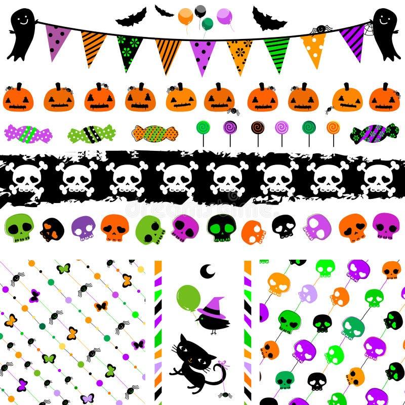 Halloween-Parteisatz lizenzfreie abbildung