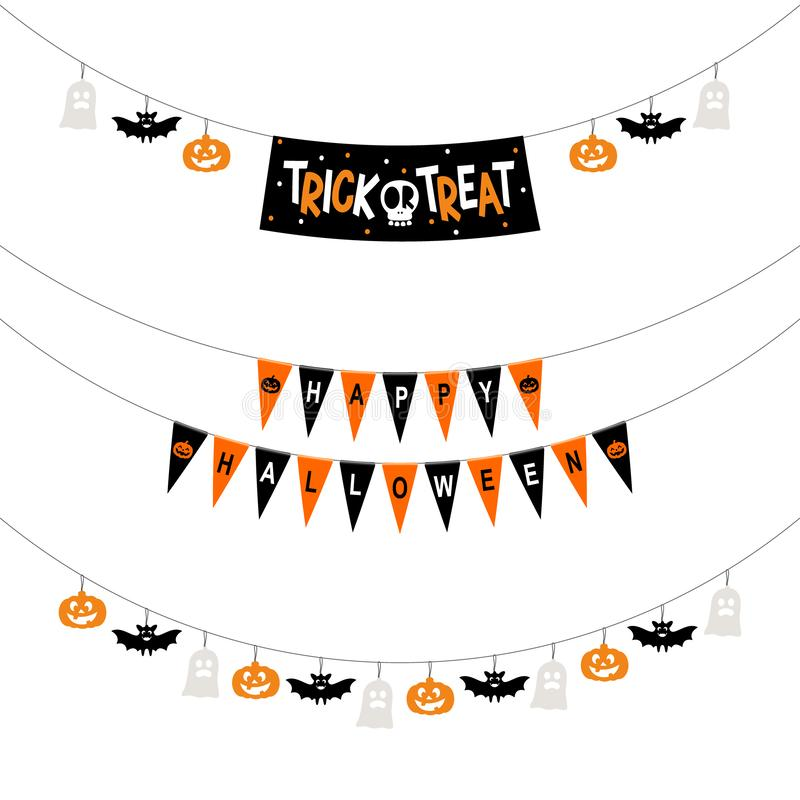Halloween-partijbanners vector illustratie