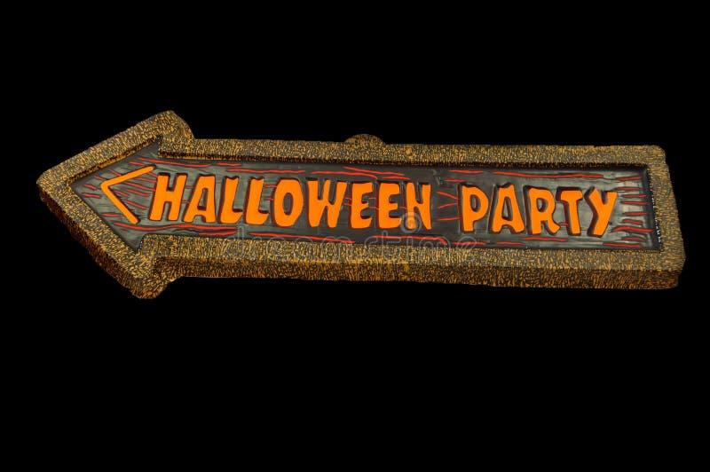 Halloween-Partijteken stock illustratie