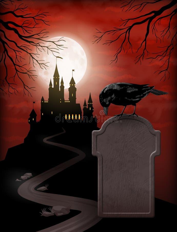 Halloween-Partijuitnodiging royalty-vrije illustratie