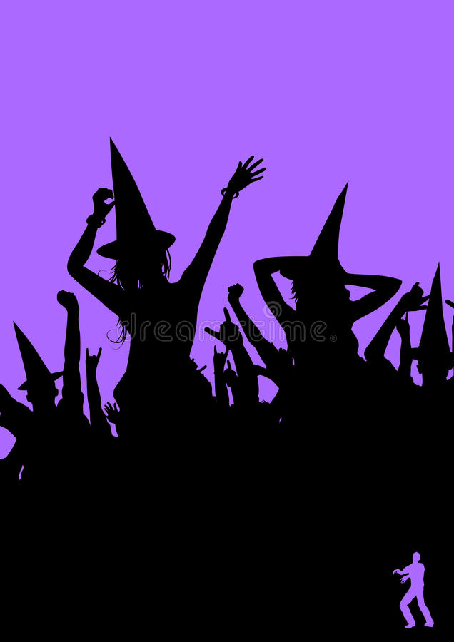 Download Halloween Party! stock vector. Image of witch, women - 11066796