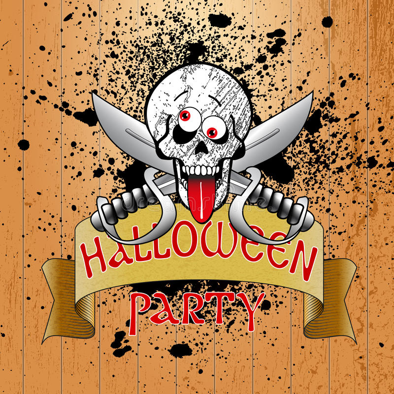 Halloween party005 royalty illustrazione gratis