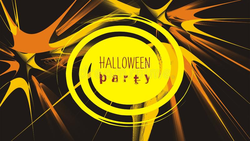 Halloween party abstract vector illustration for flyer or poster. Horizontal layout royalty free illustration