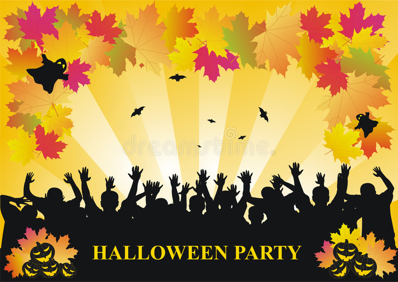 Download Halloween party background stock vector. Illustration of holiday - 6797534