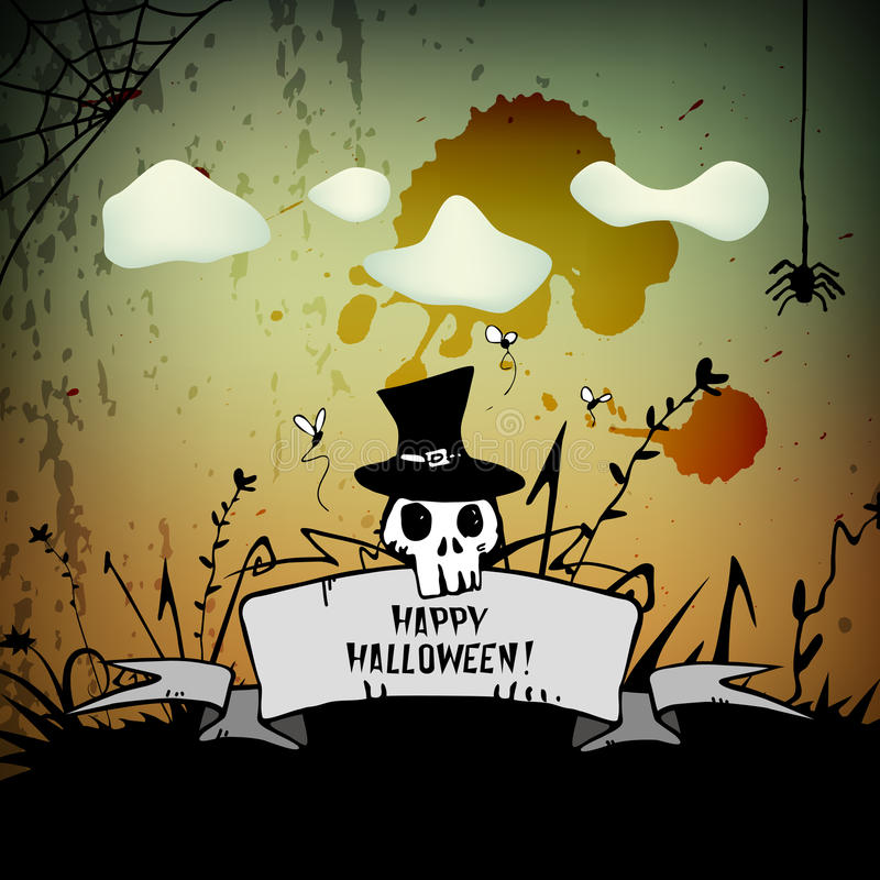 Download Halloween stock vector. Image of celebration, card, night - 34524710