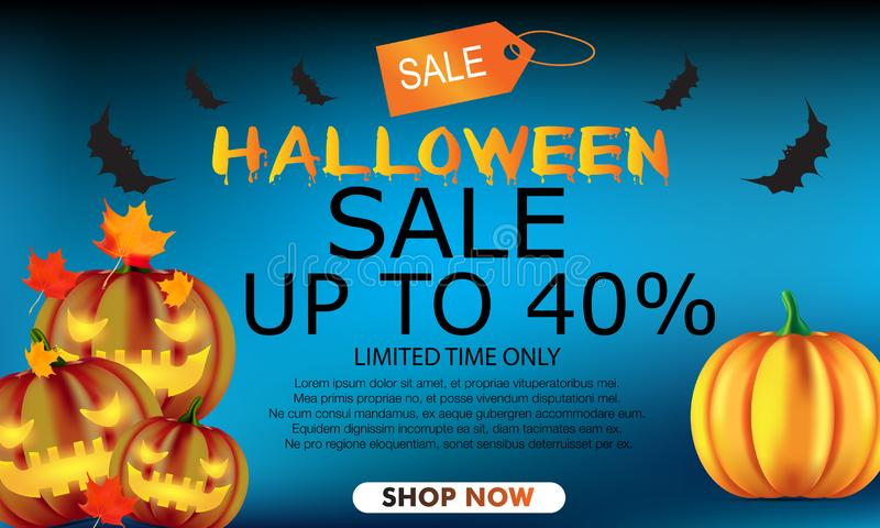 Halloween party background for shop royalty free illustration