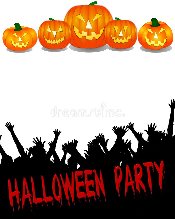 Download Halloween Party Banner stock illustration. Illustration of poster  - 6695119