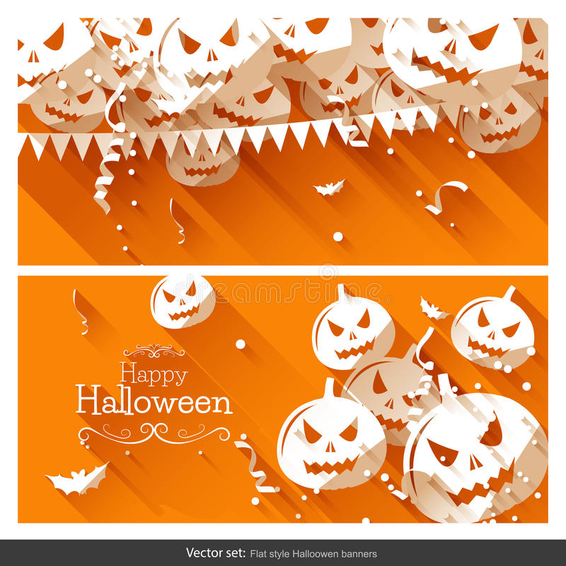 Halloween party banners vector illustration