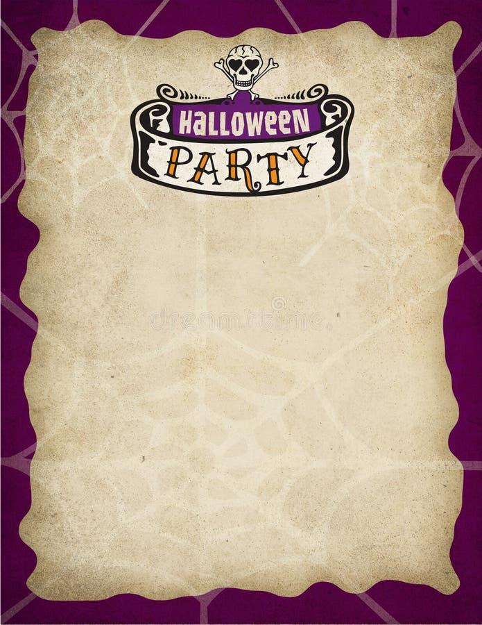 Halloween Party Border royalty free illustration
