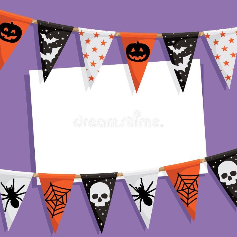 Download Halloween party card stock vector. Image of copy, pumpkin - 26224934