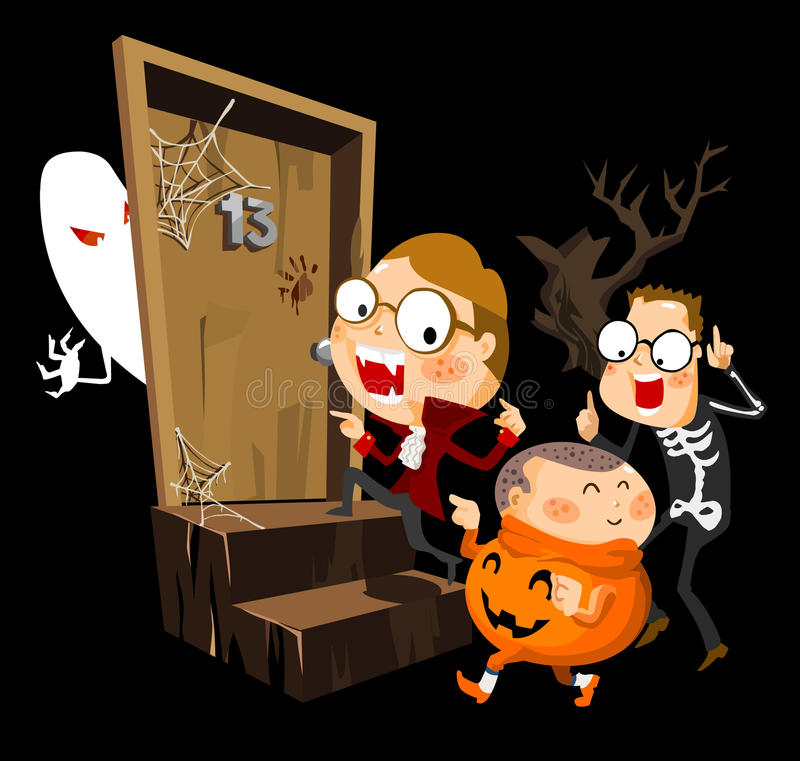 Download Halloween Party With Costume Stock Vector - Illustration: 17290011