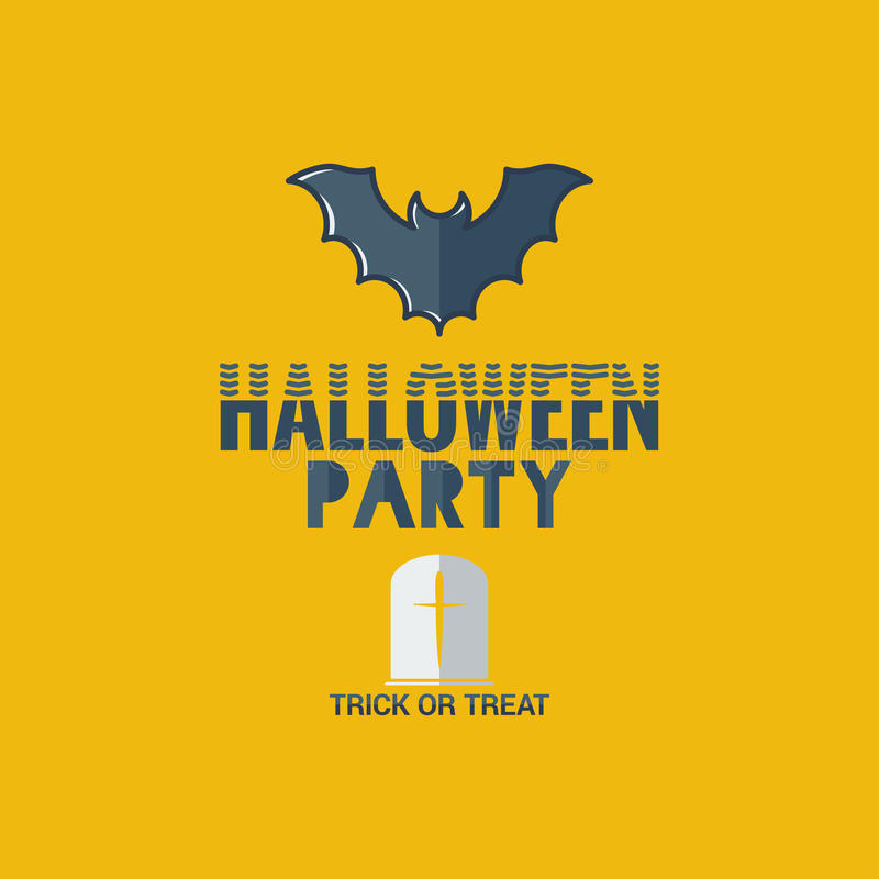 Halloween party flat design background stock illustration