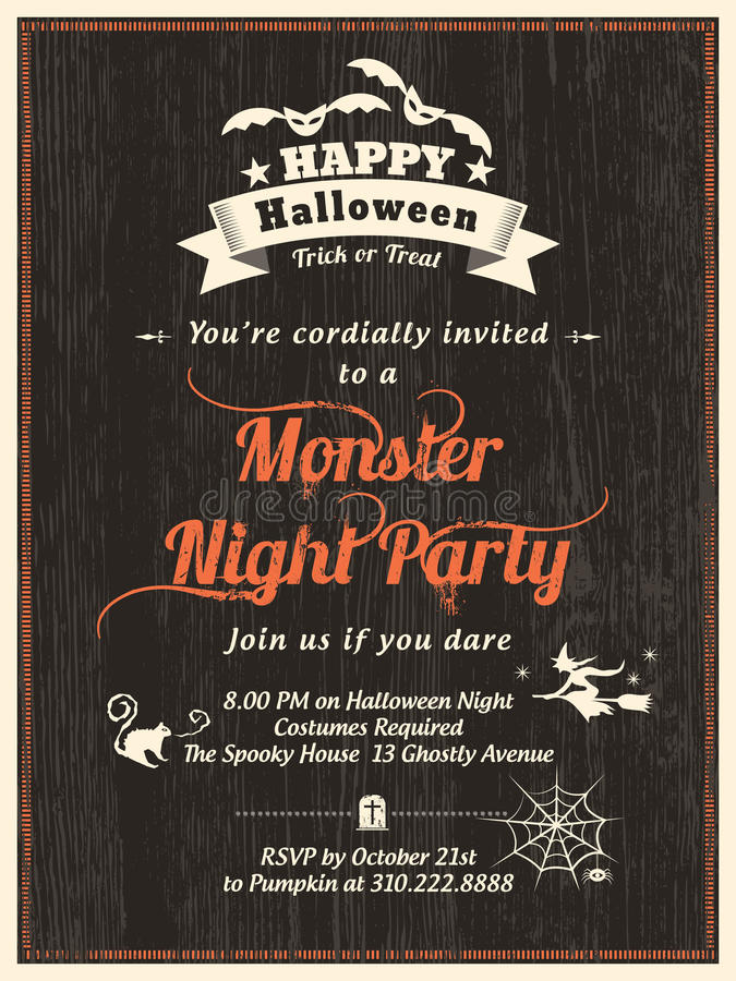 Halloween Party flyer Invitation Template royalty free illustration