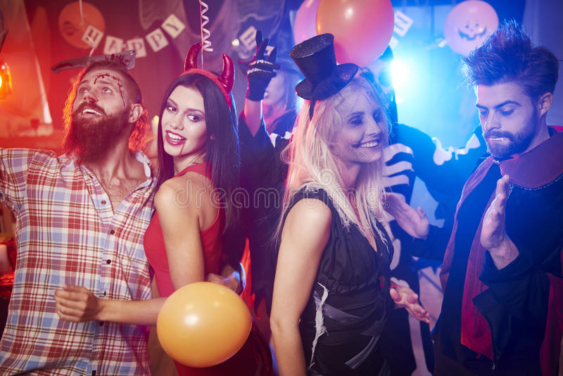 Halloween party stock image