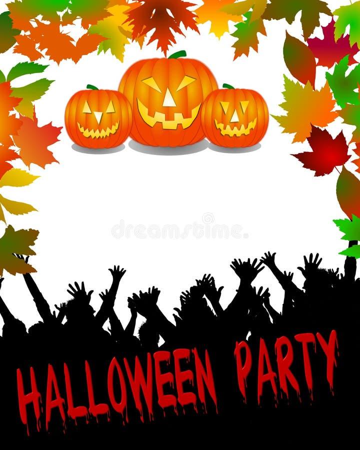 Halloween-Party-Hintergrund stock abbildung