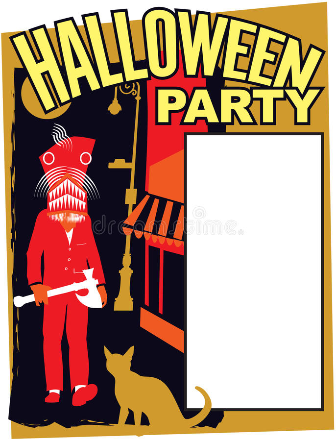 Halloween Party Invitation stock photo