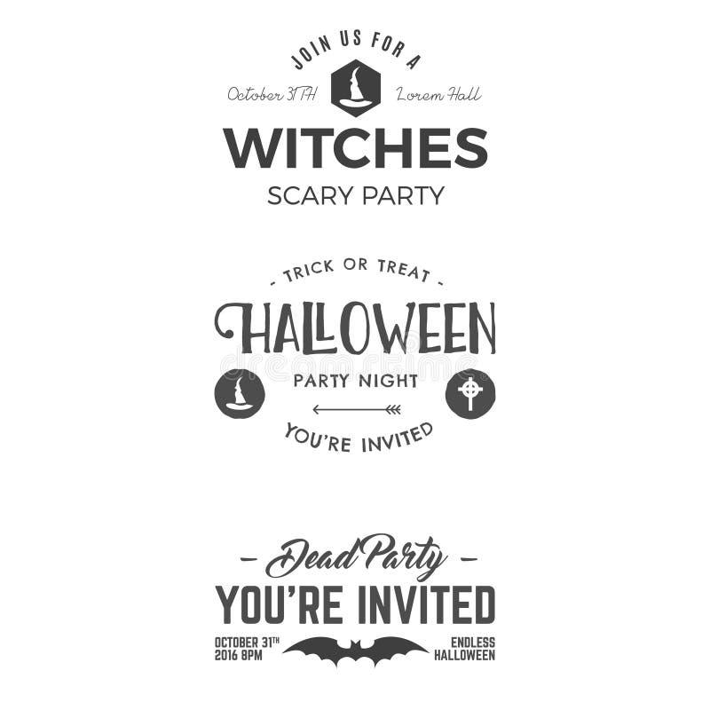 Halloween 2016 party invitation label templates with scary symbols download halloween 2016 party invitation label templates with scary symbols stock vector illustration of season stopboris Images