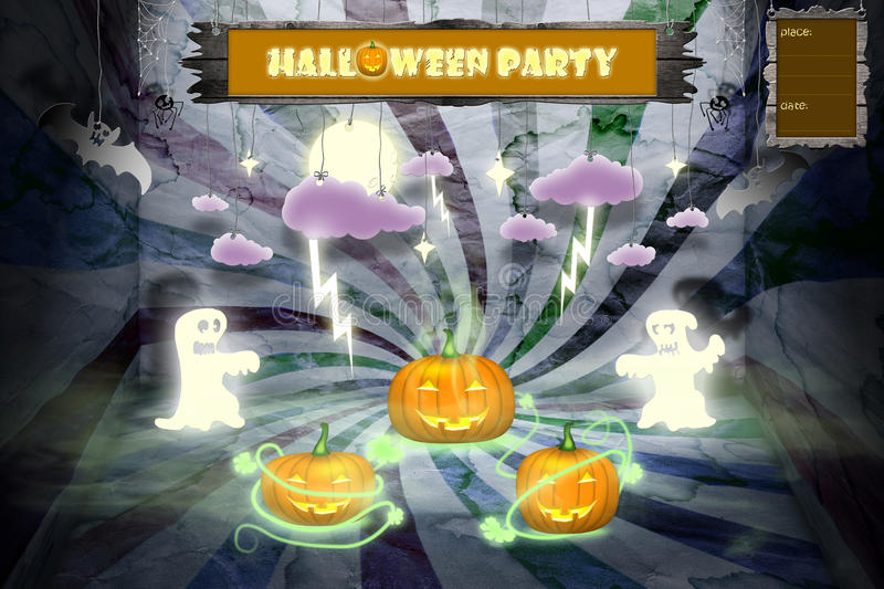 Download Halloween Party Invitation With Space For Text Stock Illustration - Image: 26524183