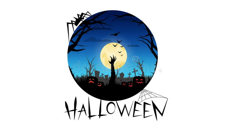 Halloween party. Invitations vector illustration
