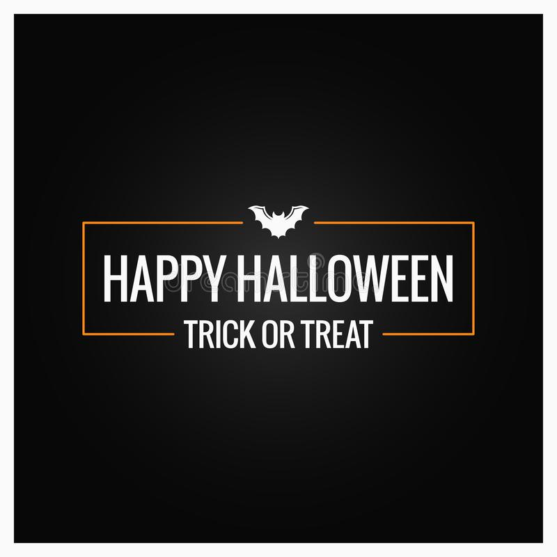 Halloween party logo design background vector illustration