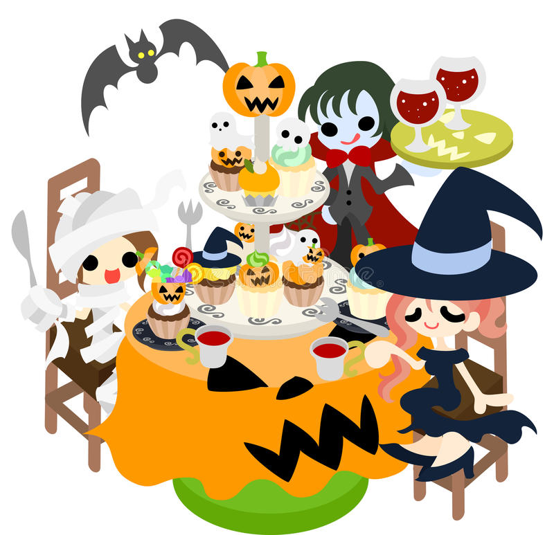 Download Halloween party stock vector. Illustration of cake, party - 33102939